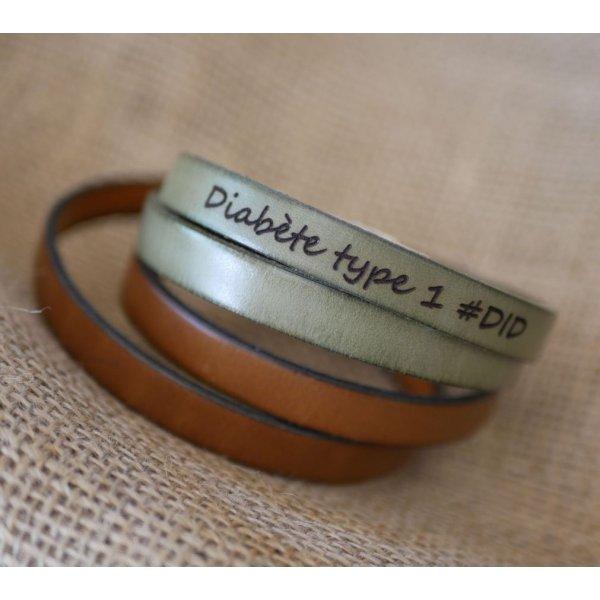 Bracelet cuir double tours homme ou femme à personnaliser fermoir ajustable
