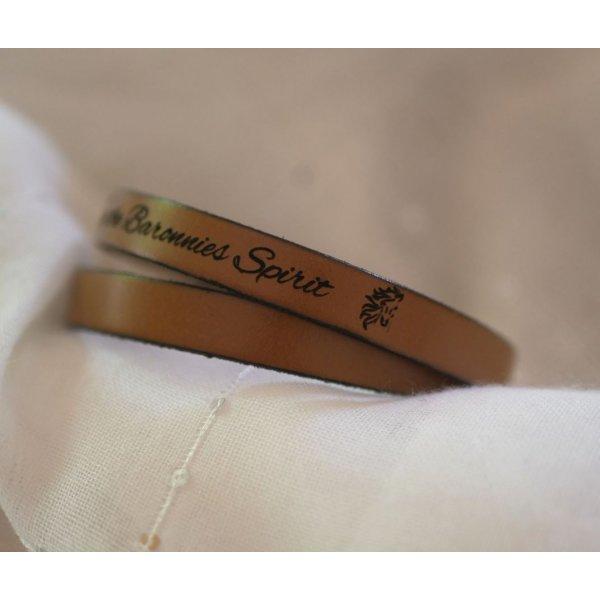 Bracelet cuir double tours de poignet pour homme personnalisable par gravure