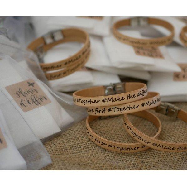 Bracelet cuir femme gravé et sur mesure