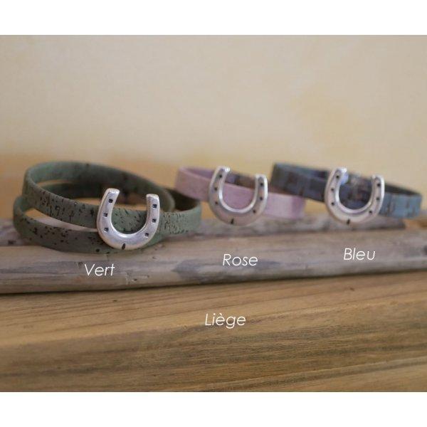 Bracelet cuir personnaisable décor Fer à cheval