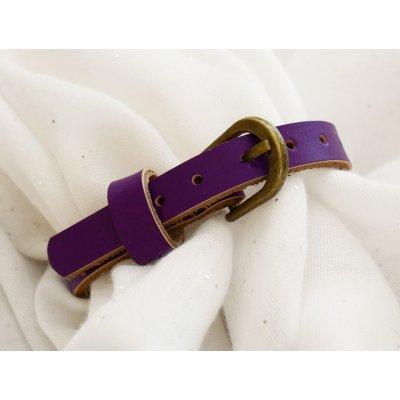 Bracelet cuir gravé simple tour à personnaliser