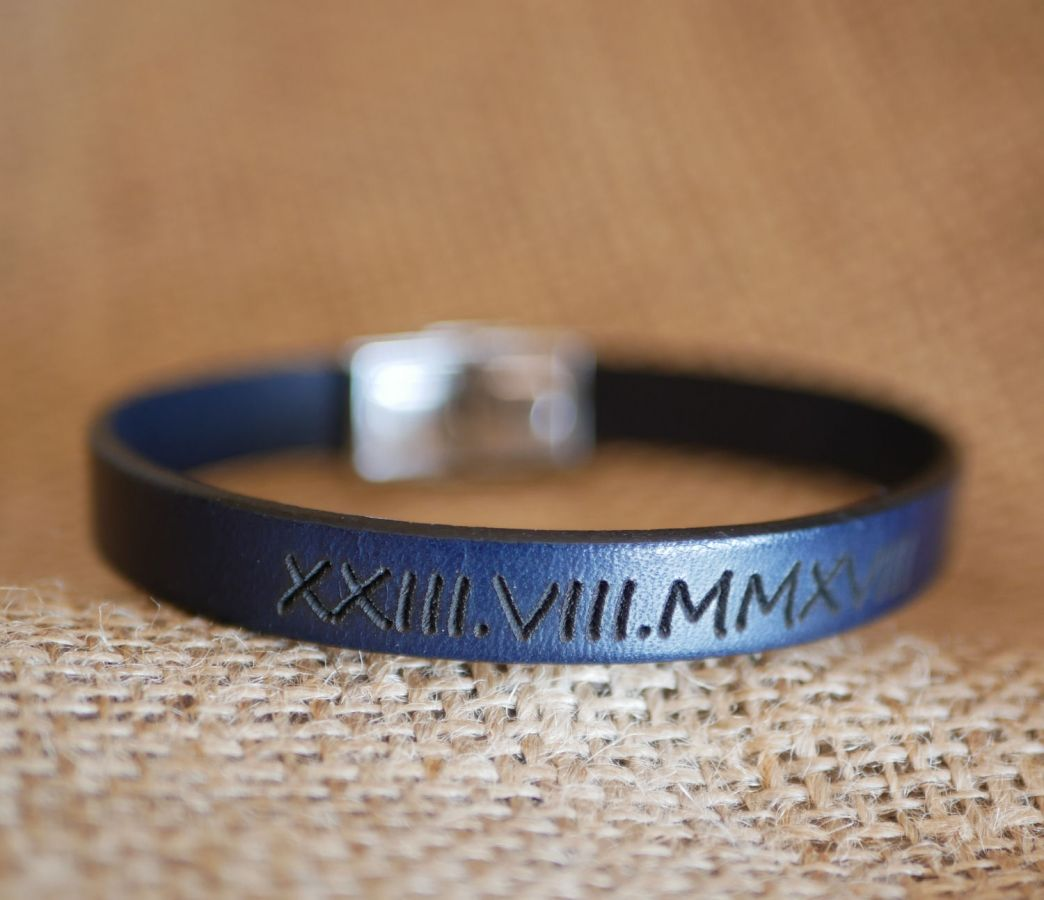 Bracelet personnalisable pour homme en cuir ou liège sur mesure