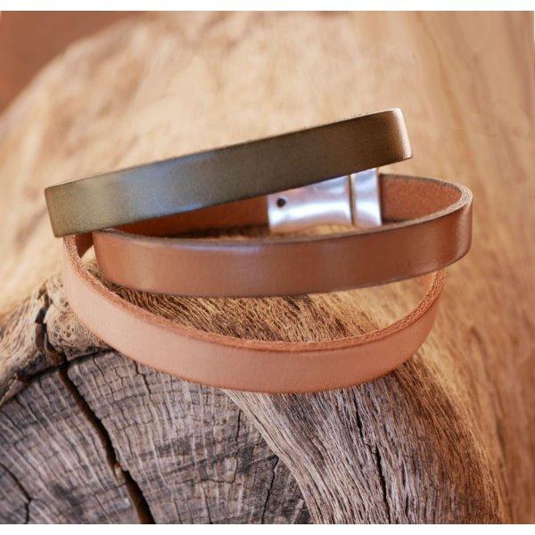 Bracelet cuir homme sur mesure