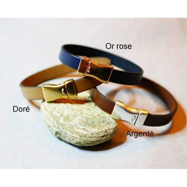Bracelet cuir mixte sur mesure