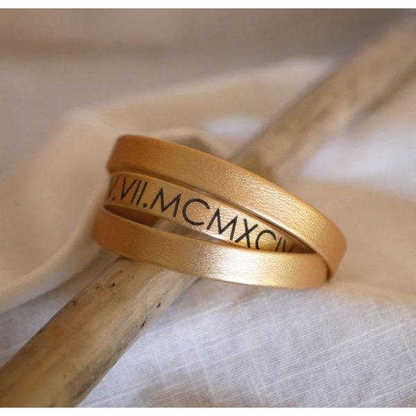 Bracelet cuir triple tours homme ou femme à personnaliser fermoir ajustable