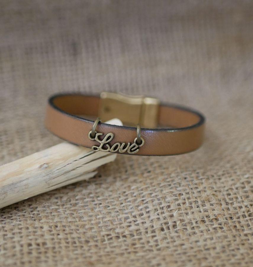 Bracelet femme cuir Love personnalisable