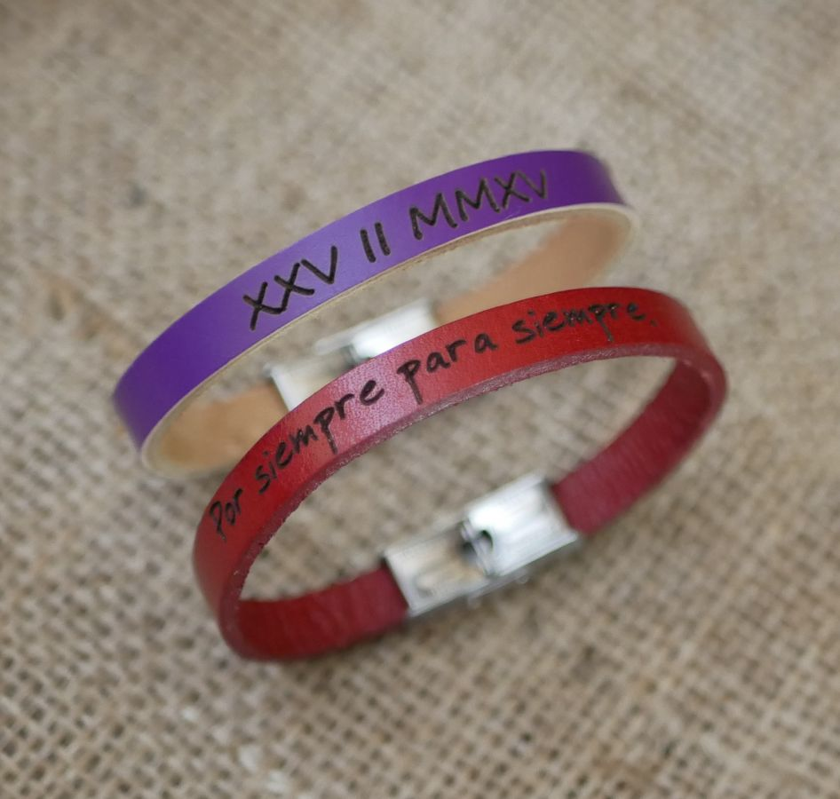Bracelet femme en cuir recyclé avec fermoir ajustable