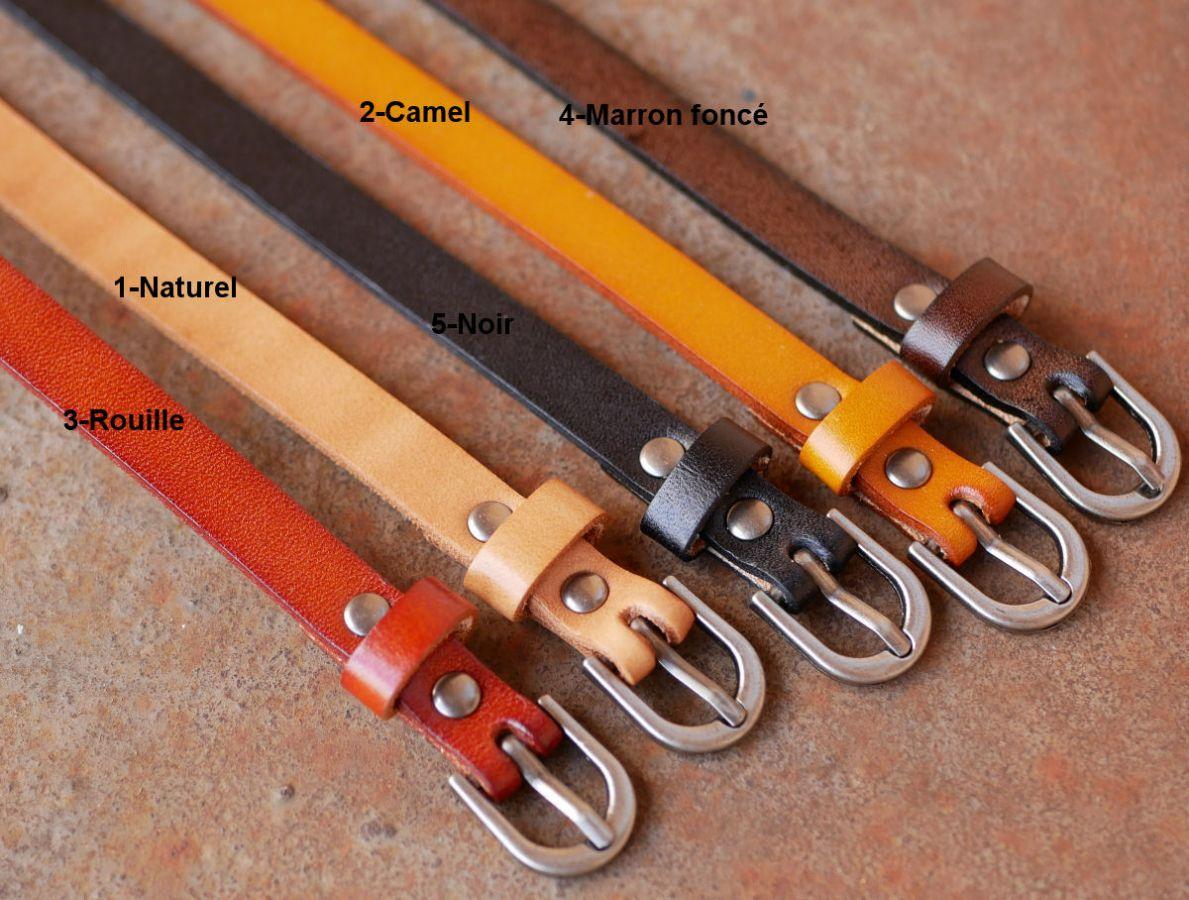 Bracelet Homme en cuir rouille à personnaliser par gravure