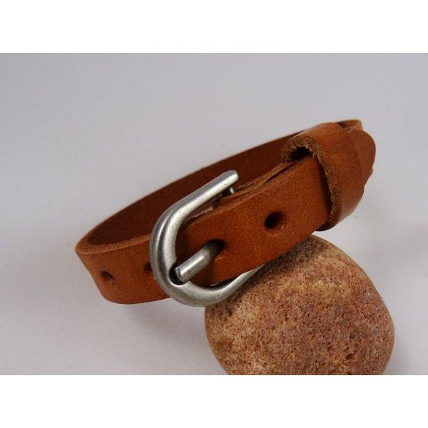 Bracelet Homme en cuir Camel à personnaliser