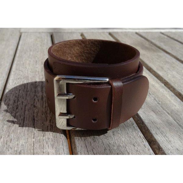 Bracelet manchette Marron mixte à graver
