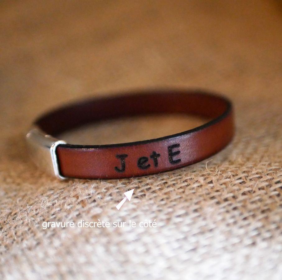 Bracelet personnalisable pour homme en cuir sur mesure