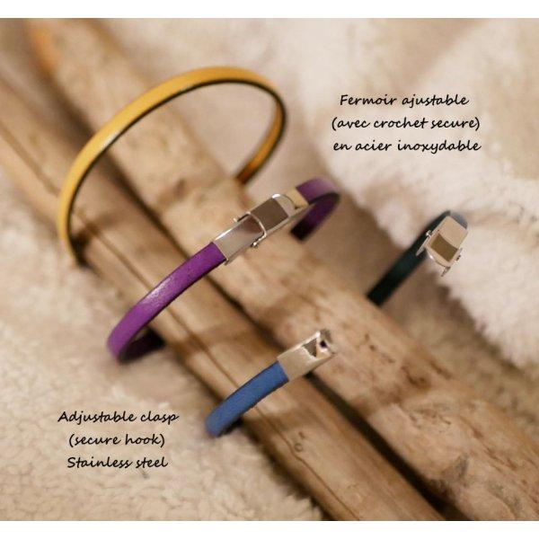 Bracelet au prénom personnalisé par gravure sur cuir