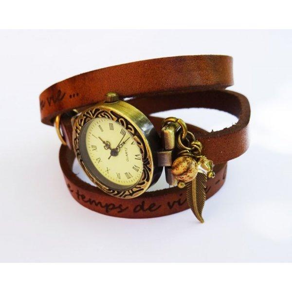 Gravure sur bracelet cuir : message personnalisé