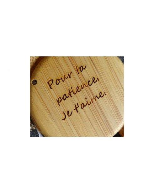 Montre en bois à graver petit cadran