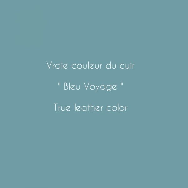 Montre bracelet cuir double tour bleu surpîqûres blanches