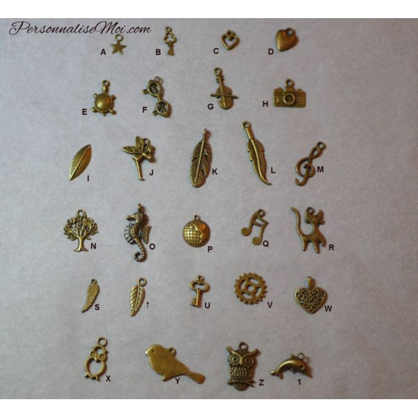 Montre bracelet cuir breloques plume et perles