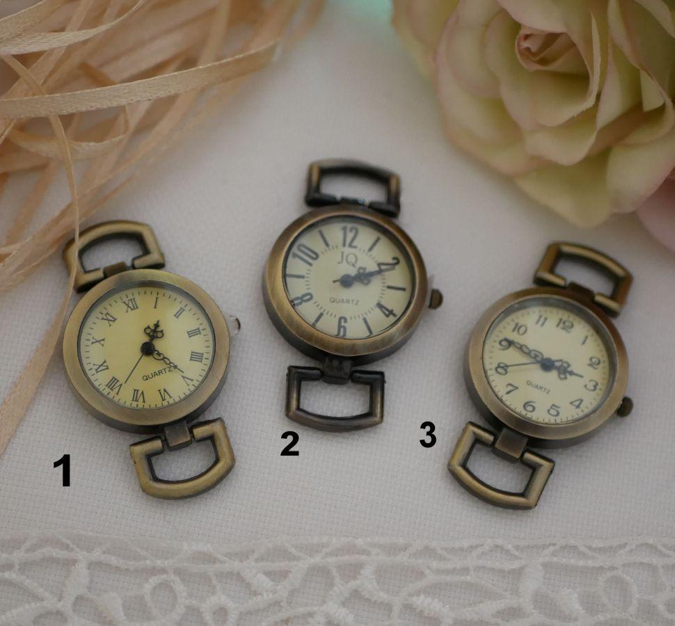 Montre bracelet cuir charmes coeur et rose rouge