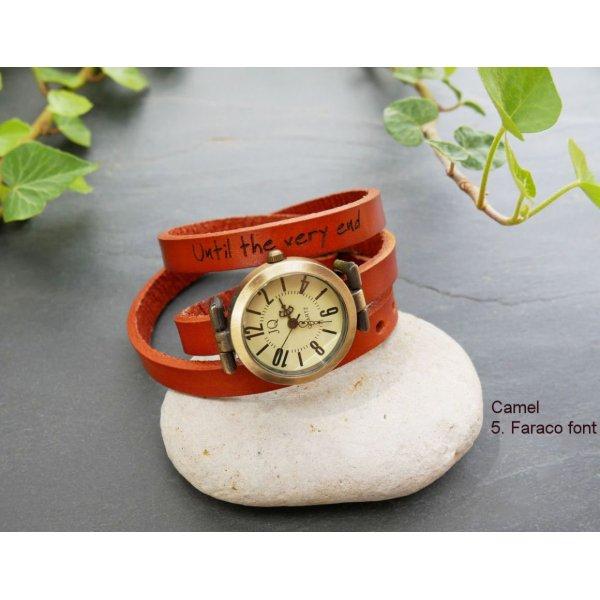 Montre bracelet cuir 3 tours personnalisable