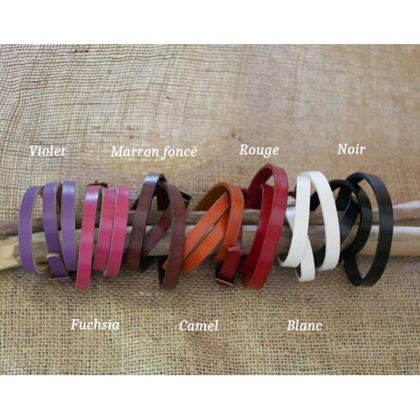 Montre bracelet cuir triple tour cabochon Chats