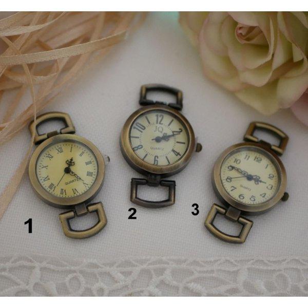 Montre bracelet cuir vintage marron Feuille