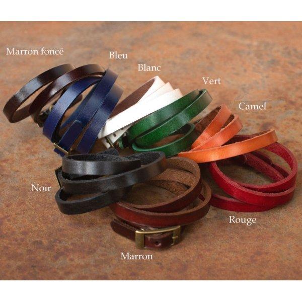 Montre bracelet triple cuir Fée carré jaspe