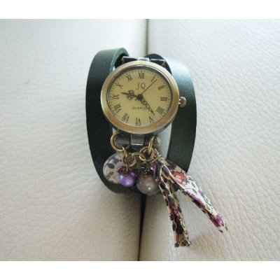 Montre Liberty bracelet cuir 3 tours