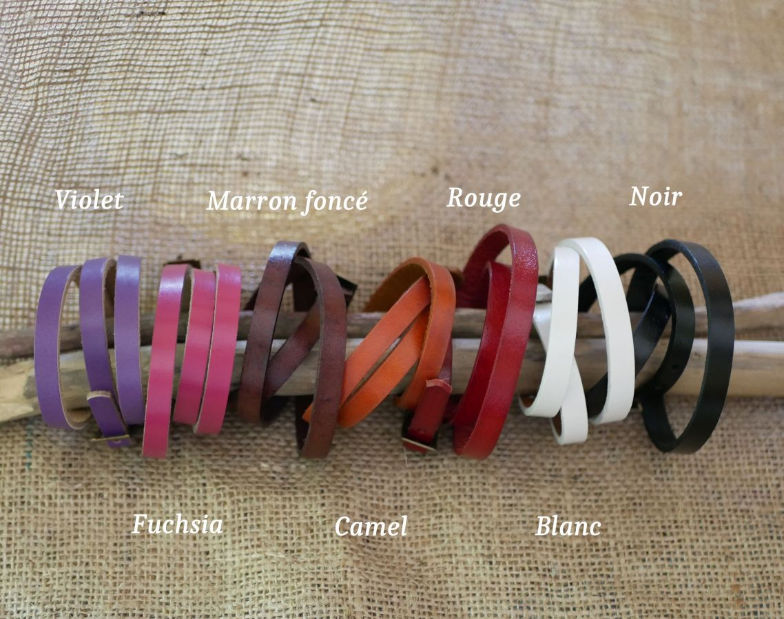 Montre évasion bracelet en cuir au choix