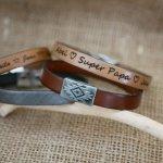 Bracelet cuir au fermoir magnétique ethnique à personnaliser