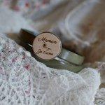 Bracelet double cuir avec cabochon bois gravé à personnaliser
