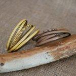 Bracelet cuir fin en 5 tours pour homme ou femme gravé personnalisé