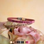 Bracelet femme personnalisable en cuir fin empilable