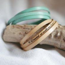 Bracelet femme en cuir 3 tours personnalisé largeur moyenne
